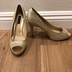 WHBM gold sequin heal